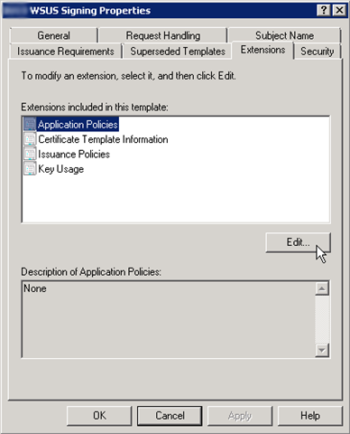 System center updates publisher microsoft pki system center scup will not publish the updates properly if you use a certificate that contains an application policy extension yelopaper Images