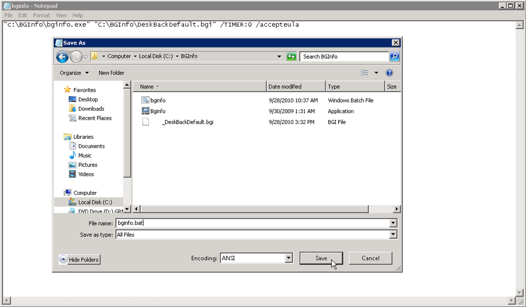 How to write a shutdown script for windows 7