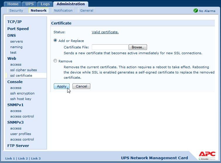 Issuing SSL Certificates to APC Devices from Microsoft PKI
